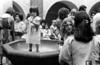 Acto en iglesia de ciudadanos argentinos exilados, Mexico DF, Mexico, Noviembre 11, 1979. En la foto: Laura Bonaparte ??, izq, Susana Miguens, junto a ella, (Austral Foto/Renzo Gostoli)
