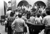 Acto en iglesia de ciudadanos argentinos exilados, Mexico DF, Mexico, Noviembre 11, 1979. En la foto: Angelica Escayola, izq. leyendo sobre un banco, Carlos Tur, atras der, Edgar Genni, der; Noe Jitrik, de espalda, der;  (Austral Foto/Renzo Gostoli)