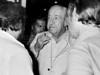 Ex presidente Hector J. Campora, autorizado por la junta militar a dejar la embajada de Mexico donde estaba refugiado, participa en un acto del COSOFAM en el teatro del Congreso del Trabajo, Mexico D.F. Mexico, Marzo 16, 1980. (Austral Foto/Renzo Gostoli)