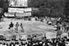 Acto politico-cultural de ciudadanos argentinos exilados en Casa del Lago, Mexico DF, Mexico, Noviembre 11, 1979. (Austral Foto/Renzo Gostoli)