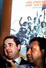 Velorio del ex presidente Hector J. Campora, Mexico D.F. Mexico, Diciembre 20, 1980. En la foto: Esteban Righi, izq,  (Austral Foto/Renzo Gostoli)