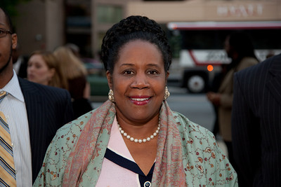 "Rep. Sheila Jackson Lee (D-TX) attends the Recording Academy sponsored GRAMMYS on the Hill reception and awards at the Liaison Capitol Hill Hotel in Washington DC on April 14, 2010. GRAMMYs on the Hill is called ""Washington's most interesting mix of music and politics."" The two days of music advocacy connects top music makers with members of Congress in Washington, D.C., in an effort to inform policy makers of the important role the recording arts play in the nation's culture and economy, and to raise the profile of the recording arts during meetings with legislators. (Photo by Jeff Malet)"