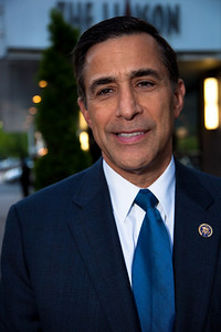 """Rep. Darrell Issa (R-CA) was honored at the Recording Academy sponsored GRAMMYS on the Hill reception and awards at the Liaison Capitol Hill Hotel in Washington DC on April 14, 2010. GRAMMYs on the Hill is called """"Washington's most interesting mix of music and politics."""" The two days of music advocacy connects top music makers with members of Congress in Washington, D.C., in an effort to inform policy makers of the important role the recording arts play in the nation's culture and economy, and to raise the profile of the recording arts during meetings with legislators. (Photo by Jeff Malet)"""