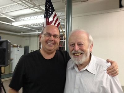 Dr. Fein with his biggest fan...Don Spruill.