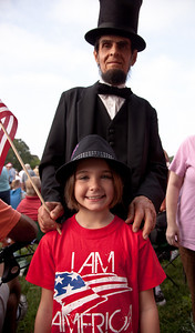 Gerald Bestrom as Abraham Lincoln and Kassidy Branch of Bixby OK Kassidy's mother is singer Krista Branch