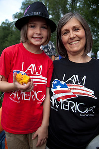 "Kassidy Branch and Grandmother Lisa Weston of Bixby OK Kassidy's mother is singer Krista Branch whose song ""I Am America"" is a politically-charged ode to tea party values that strikes out at the movement's critics."