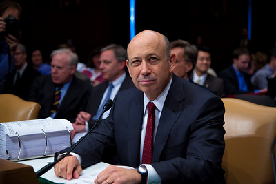 Lloyd Blankfein, Chairman & CEO of Goldman Sachs testifies before the Senate Permanent Subcommittee on Investigations on Capitol Hill in Washington DC on April 27, 2010.  (Photo by Jeff Malet)