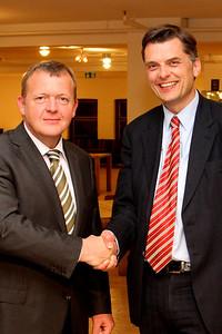 Grundlovsmøde 2012 til fordel for Løkke Fonden Lars Løkke Rasmussen og Jan E. Jørgensen