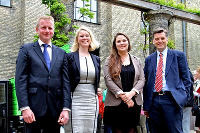 Grundlovsmøde 2012 Martin Geertsen, Pia Allerslev, Nanna Østergaard og Jan E. Jørgensen