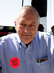 Larry Pratt is the executive director of Gun Owners of America. Gun rights activists gathered near the Washington Monument for the Second Amendment March on April 19, 2010. (Photo by Jeff Malet)
