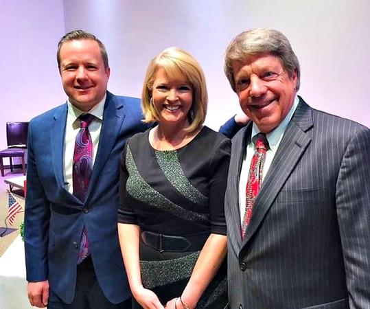 Corey Stewart, Heather Sullivan, (WWBT 12 News anchor), & Frank Wagner. <br /> Heather was moderator.