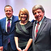 Corey Stewart, Heather Sullivan, (WWBT 12 News anchor), & Frank Wagner. <br /> Heather was moderator.
