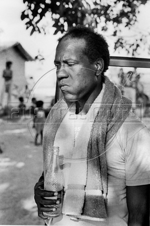 Gérard Pierre-Charles, Haitian politician, economist and former leader of the Unified Party of Haitian Communists, during a haitian movie realisation in Oaxaca state, Mexico, February 7, 1982. (Austral Foto/Renzo Gostoli)