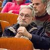 Former Mayor Dan Mylott listens in during the State representative debate held at Fitchburg State University on Monday evening. SENTINEL & ENTERPRISE / Ashley Green