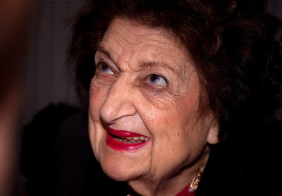 "Veteran White House correspondent Helen Thomas makes an appearance with Congressional Quarterly columnist Craig Crawford at the Newseum in Washington DC on Nov. 1, 2009 to discuss their new book, ""Listen Up, Mr. President: Everything You Always Wanted Your President to Know and Do"".  Thomas and Crawford turned their experience covering U.S. presidents into a how-to guide on being an effective commander in chief. Currently a Hearst Newspapers columnist, Thomas served for fifty-seven years as a correspondent and, later, White House bureau chief for United Press International (UPI). Thomas has covered every President of the United States since the later years of the Eisenhower administration (Photo by Jeff Malet)"