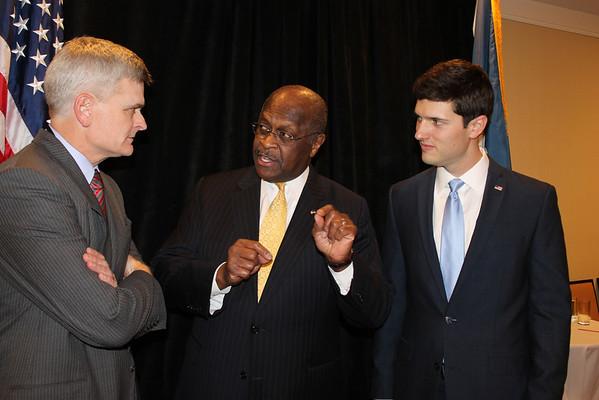 Herman Cain at Paul Dietzel Rally 1-17-14