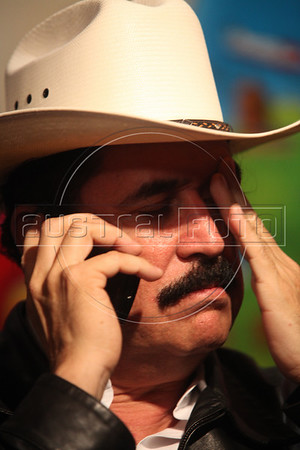 Honduras' ousted President Manuel Zelaya at a news conference at the Honduran embassy in Managua, Nicaragua, July 19, 2009.  Negotiations between Zelaya and the de facto government that is ruling Honduras filed in Costa Rica. Zelaya said that the resistance of Honduran people is going to bring him back to the government. (Australfoto/Nicolas Garcia)