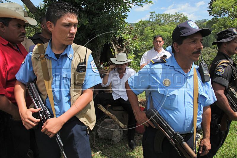 Ousted Honduran President Manuel Zelaya at La Colina, Nicaragua, near the Honduras border, July 28, 2009. (Australfoto Nicolas Garcia)