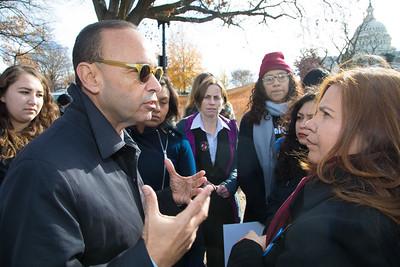 Luis Gutierrez, DACA Protest at Capitol