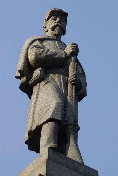Civil War Memorial in Monson, MA