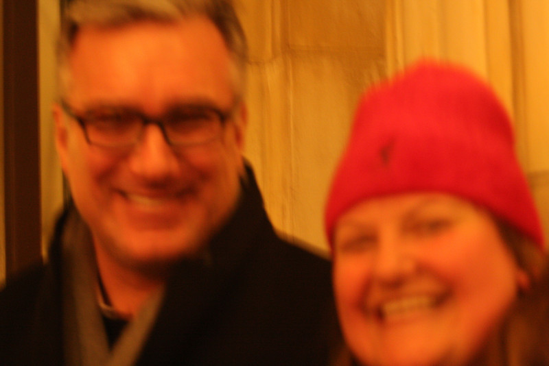Blurry Keith Oberman & Shoshanna.