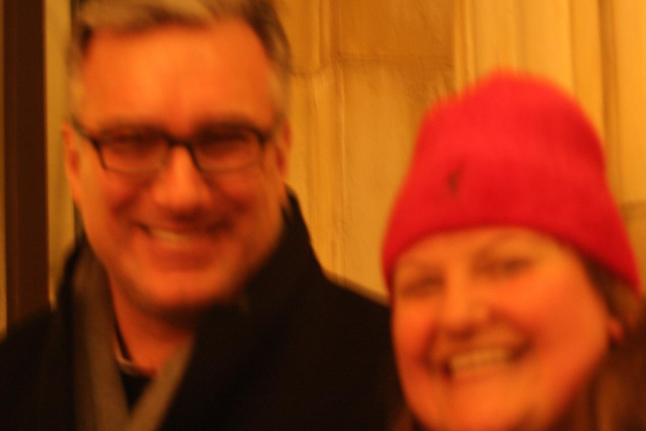 Blurry Keith Oberman & Shoshanna.