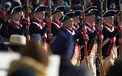 Members of the 3rd United States Infantry Regiment is readily identified by its nickname, The Old Guard, as well as Escort to the President.