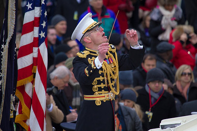 U.S. Marine Corp Band under the baton of Col. Michael J. Colburn of St. Albans, VT.