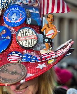 "Mississippi delegate Mrs. Kelly Jacobs, self described ""Mistress of Enthusiasm"" was a volunteer for Obama for America.(Hernando, MS)"