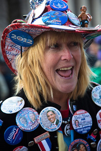"Mississippi delegate Mrs. Kelly Jacobs, self described ""Mistress of Enthusiasm"" was a volunteer for Obama for America.(Hernando, MS)"