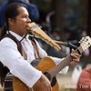 A musician plays at the Farmer's Market in Boulder, Colorado.