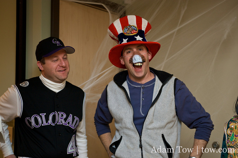 Jared and his Chief of Staff, Andy with their costumes.