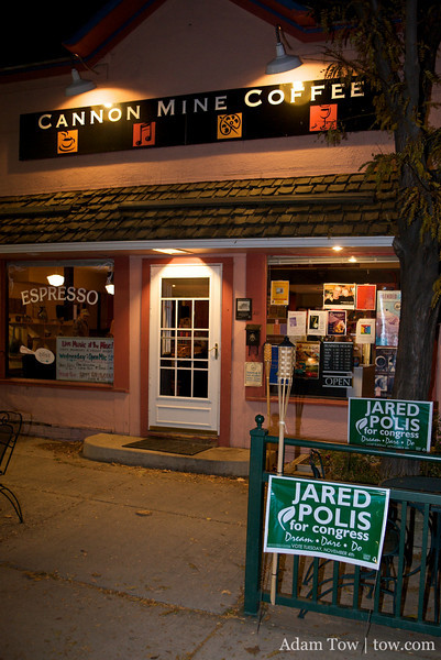 The final event of the day was held at the Cannon Mine Coffee House in Lafayette, Colorado.