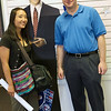 Jared and Rae with a Barack Obama cardboard cutout.