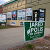 A Jared Polis for Congress sign outside a Boulder canvass center.