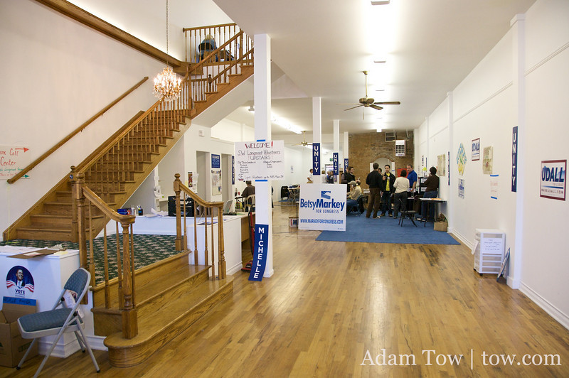 Inside the Longmont campaign offices.