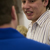 Jeff talks with Jared at the Longmont campaign offices.