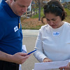 Gina and Jared go through the canvassing sites.