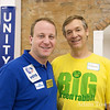 Jared and Glenn at the Longmont campaign offices.