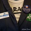 Pins for Obama, Markey, and Polis.