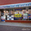 The Republican campaign office in Longmont, Colorado. They didn't let me take photos inside and had hired security guarding the entrance.