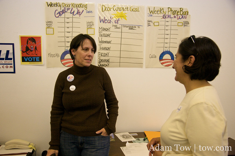 Talking with the staff and volunteers