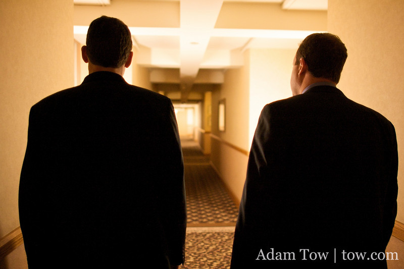 Walking down the hallway with Chief of Staff Andy Schultheiss.