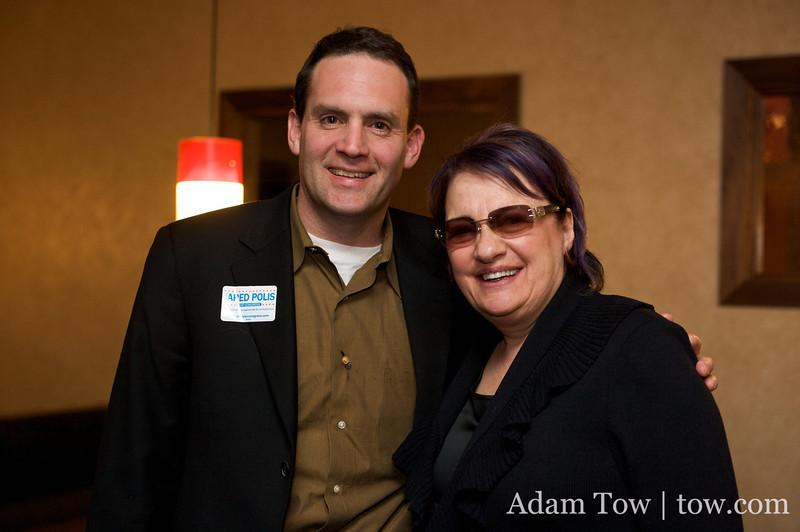 Andy with Jared's mom, Susan Polis Schutz