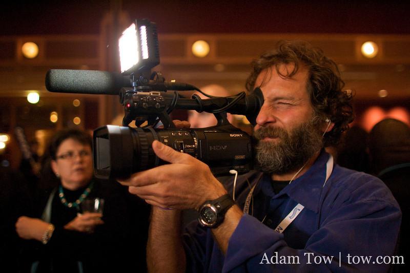 Steve on b-roll with the Sony V1U.
