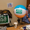 Lawn signs and beach balls