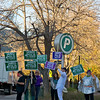 Honking and Waving on Broadway Street in Boulder, Colorado.