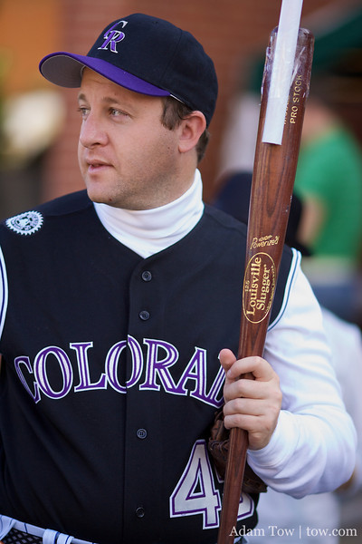 At the on-deck circle, Jared Polis.
