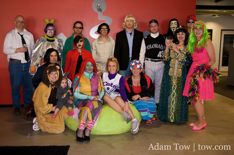 The costumes from the Fuser Halloween Party in Boulder, Colorado.
