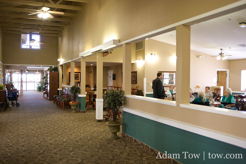 The hallways of the Northglenn Heights Assisted Care Center